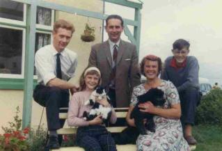 My parents, brother, sister and myself, taken 1963